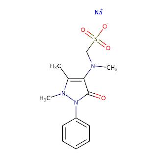 Struktur Kimia obat Antalgin (Metampiron / Metamizole)