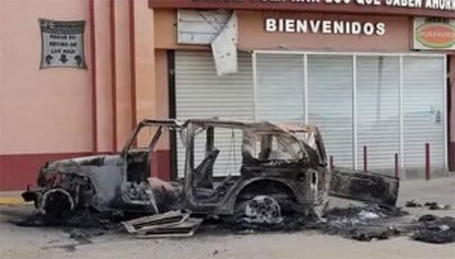 Fotografías, Sicarios toma municipio en Chihuahua dejan vehículos calcinados, casas quemadas y cientos de casquillos