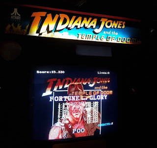 Indiana Jones and the Temple of Doom at Arcade Club in Bury