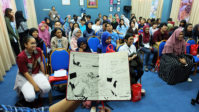 Workshop Bikin Komik Online Bersama Archie the Redcat