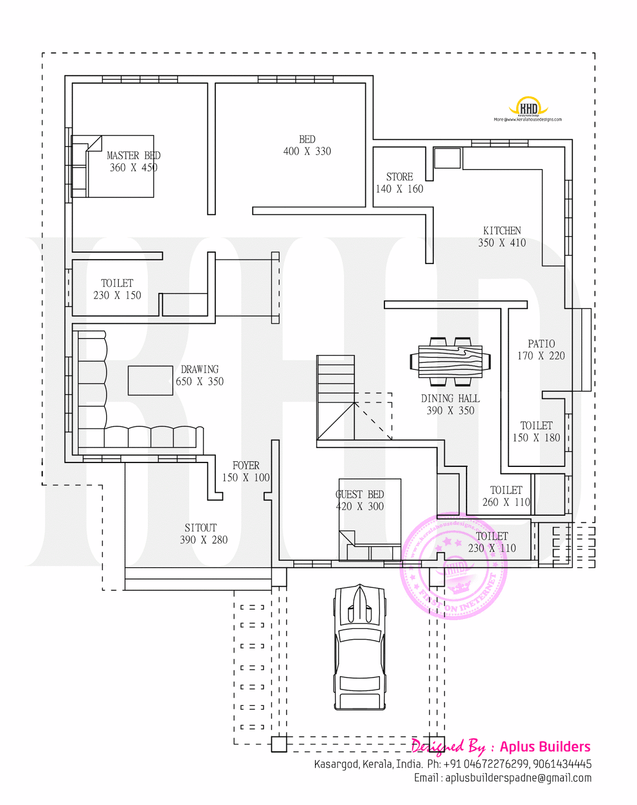 Elevation And Floor Plan : Floor plan and elevation by aplus builders kerala home