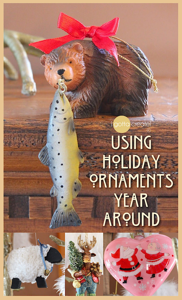 Sweet Ideas for Using Christmas Ornaments Year Around | visit I Gotta Create!