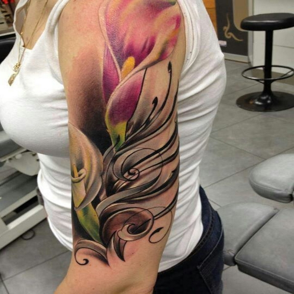 calla lily sleeve tattoo your body tattoo