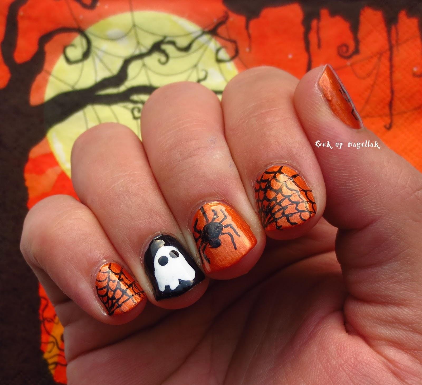 Halloween Figuurtjes Maken.Gek Op Nagellak Halloween Nail Art Bij Mijn Vriend