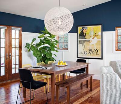 desain ruang makan unik bernuansa romantis