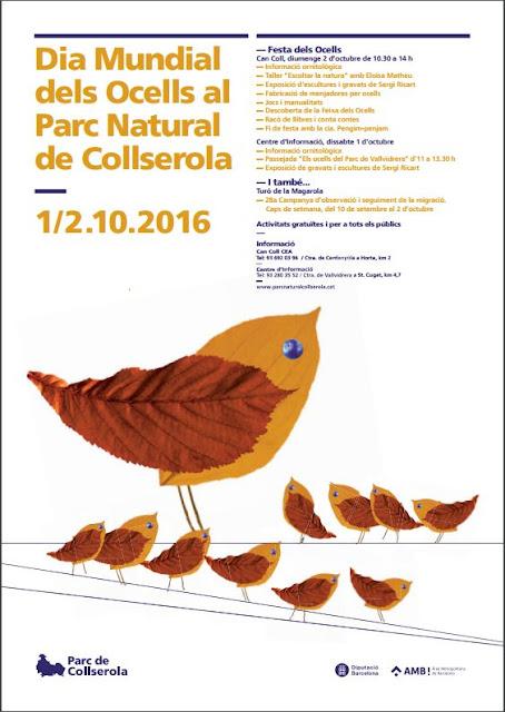 Cartell del Dia Mundial dels Ocells a Collserola