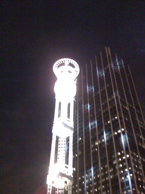 This is a picture of the peach drop in downtown atlanta.