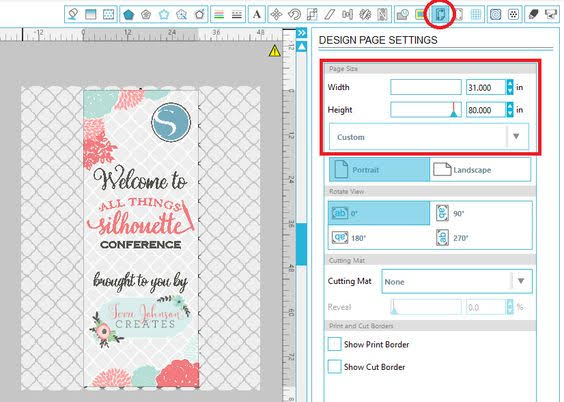 oversized files, print large files, design large graphics, Silhouette Studio designer edition tutorials, Silhouette Studio Software tutorials