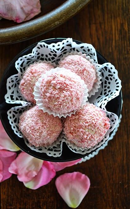 Rose Petal Chocolate Truffles  - Recipe - shewandersshefinds.com