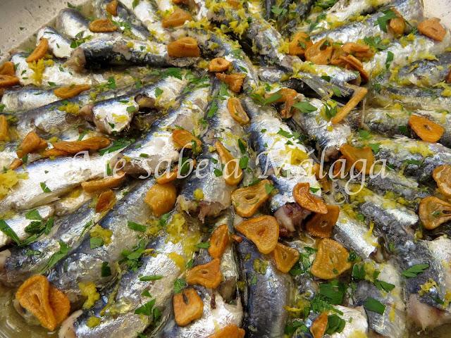 receta malagueña de sardinas fritas con ajo y limón