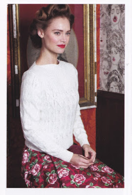 1940s style sweater, updated from Lister leaflet 924