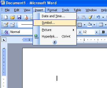 Insert Symbol In Microsoft Word 2003 Office Support