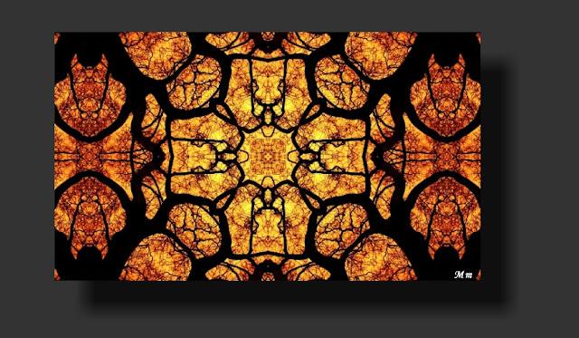 fotos reflejadas, caleidoscópicas, fotos de mandalas, arte digital