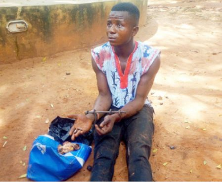 Police arrest a man with fresh human parts in Ogun State