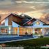 Slanting + sloping roof modern home 2850 square feet