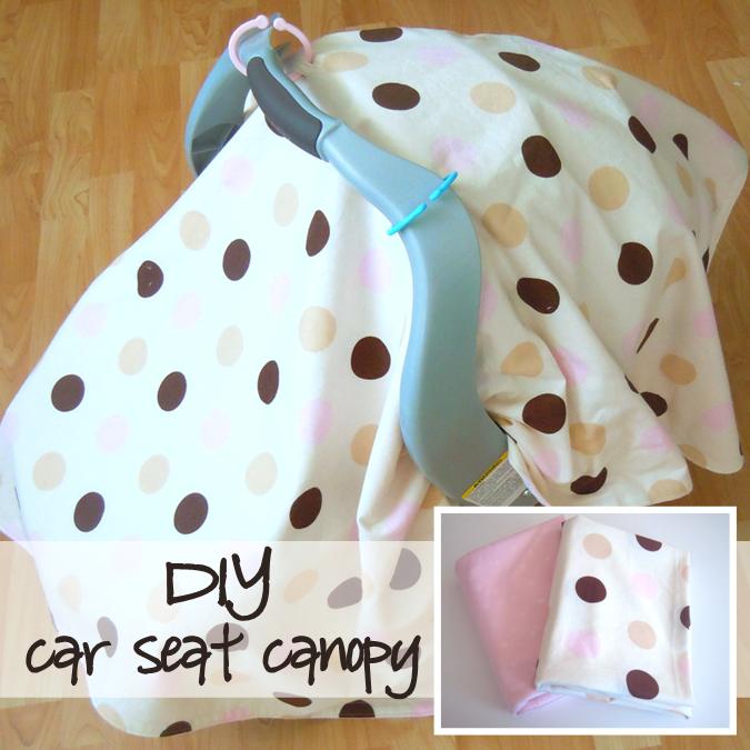 Nesting Series Diy Car Seat Canopy Tutorial Naturally Creative Mama