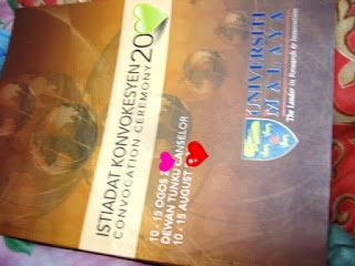 Convocation Ceremony UM, Universiti Malaya, UM, Kenangan, Memori, STPM, Degree, Ijazah, Ijazah Sarjana Muda, Buku, Student UM, Tesis,