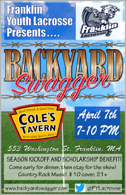 Franklin Youth Lacrosse at Coles Tavern with Backyard Swagger on April 7