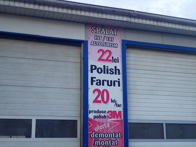 Polskie reflektory w rumuńskim warsztacie samochodowym ;)