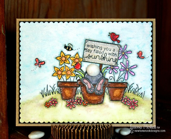 Bunny Butt card by Larissa Heskett | Bunny Hop Stamp set by Newton's Nook Designs #newtonsnook #bunny