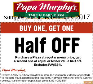 Papa murphy's coupons 2019