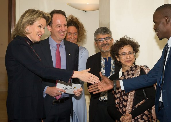 Queen Mathilde attended the 20th anniversary events of Enabel, the Belgian development agency at Bozar in Brussels