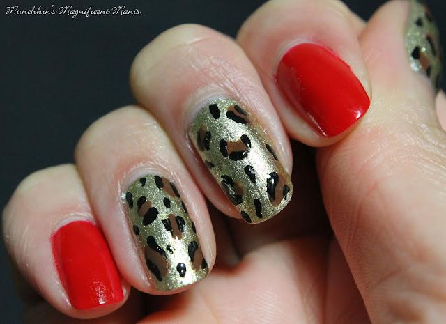 Leopard Print Nail Design