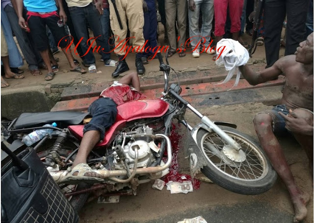 Police Foil Robbery Operation At Zenith Bank, Armed Bandit killed (Graphic Photo)