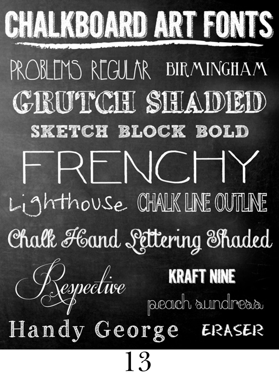 Mega Chalkboard Font Round Up! - The Scrap Shoppe
