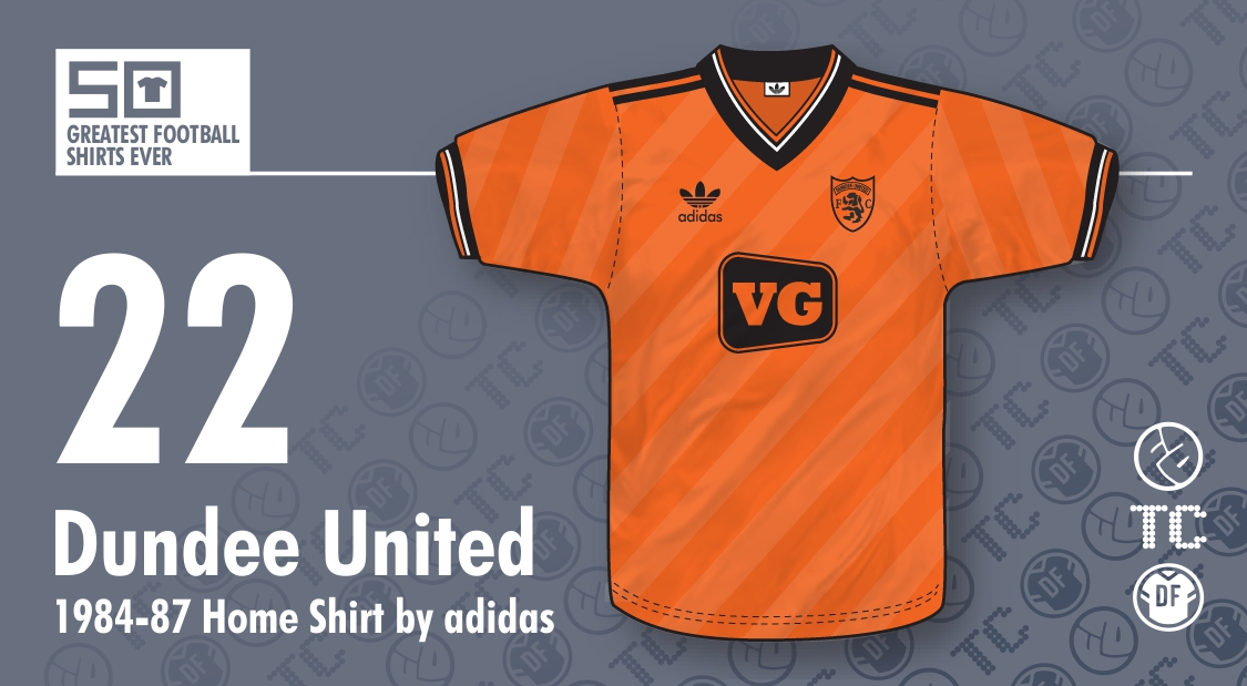 50GFSE] #22 - Dundee United 1984-87 Home Shirt by adidas
