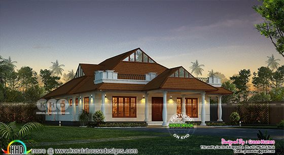 Awesome Kerala model villa 2200 sq-ft