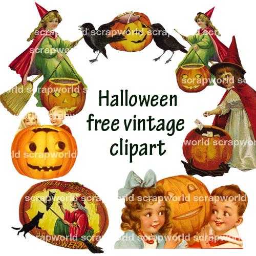 halloween clip art free vintage - photo #42