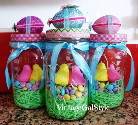 Easter Vintage Mason Jar Gifts
