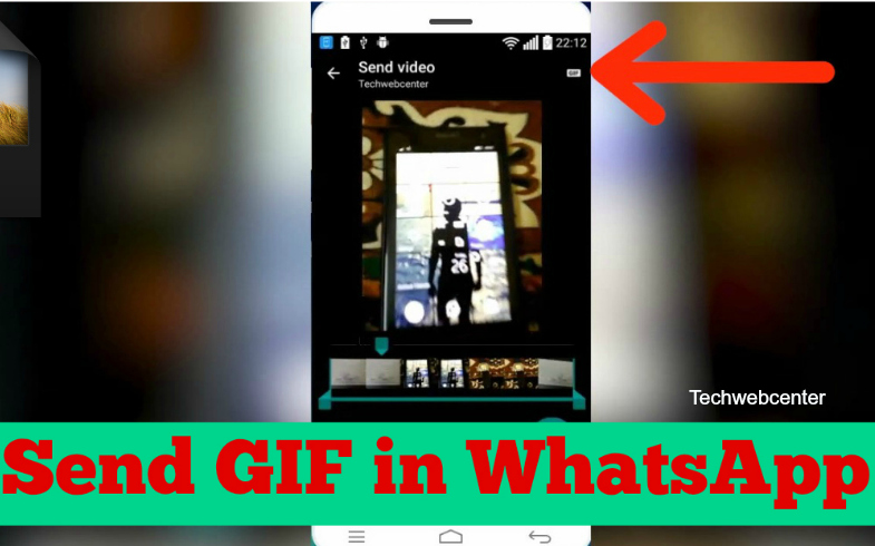Send GIF file in WhatsApp on Android
