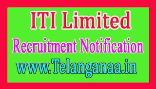 ITI Limited Recruitment Notification 2017