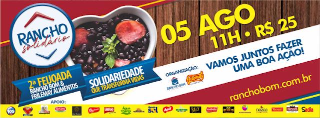 Supermercados Rancho Bom promove feijoada beneficente no próximo domingo