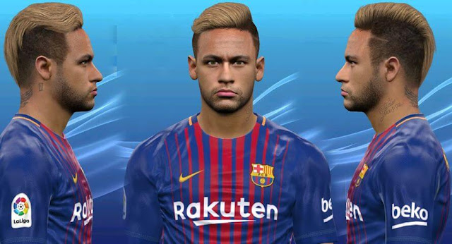 Face Neymar & New Hair PES 2017