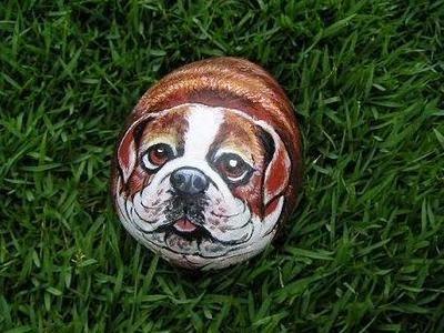 piedras, rocas, decoración, pintura, Tutorial de Artesanía, perro