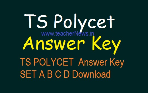 TS POLYCET 2019 Answer Key SET A B C D Key Download –TS Polytechnic Cutoff MarksTS POLYCET 2019
