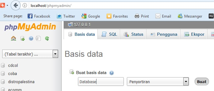 Cara Membuat Database Pada Localhost Study Club Share