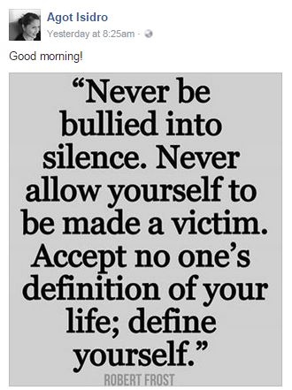'Never Be Bullied Into Silence' - Agot Isidro Posts About Bullying After Her 'Psychopath' Remark