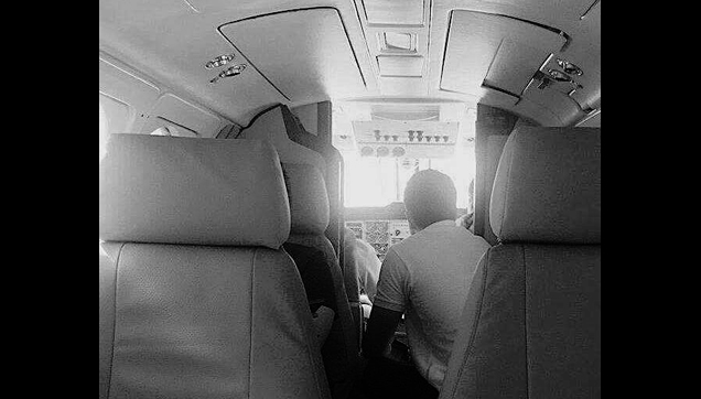 Alden Richards inside a chartered plane going to Boracay