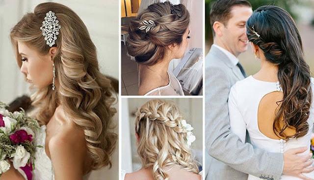 Ακολουθούν 100+ φωτογραφίες με εντυπωσιακά νυφικά χτενίσματα για κάθε μήκος  μαλλιών και για κάθε στυλ. Δείτε τα και πάρτε ιδέες για να λάμψετε την  ημέρα του ... 49b6f438f86