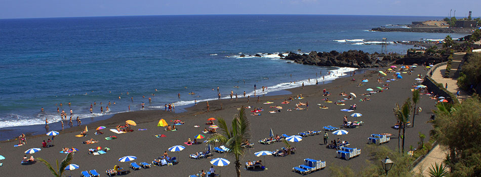 Playa jard n puerto de la cruz isla de tenerife v vela - Jardin caleta tenerife sur ...