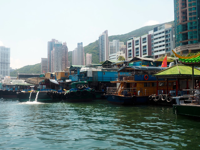 Boats in the harbour at Aberdeen, Hong Kong