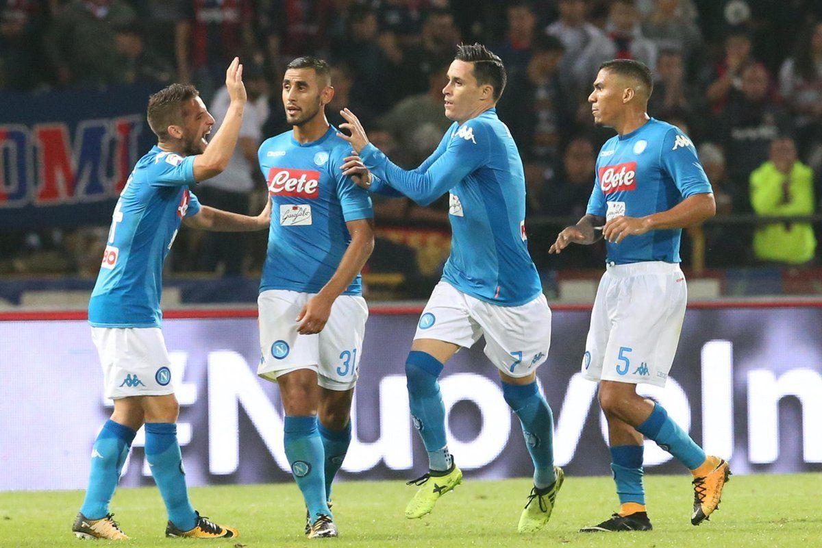 Napoli in mood Champions: 3-0 a Bologna con Callejon Mertens Zielinski