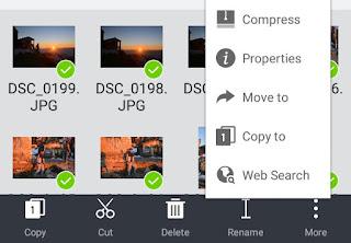 Compress photos in ES File Explorer