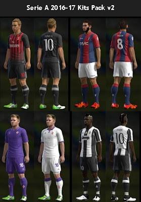 Serie A 2016-17 Kits Pack v2