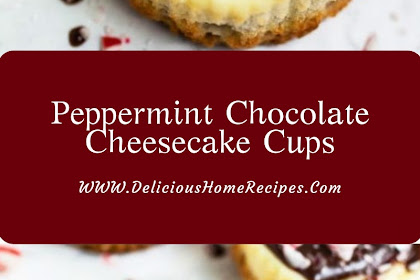 Peppermint Chocolate Cheesecake Cups #christmas #dessert