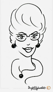 Party 'Glamicature' Caricature by Ingrid Sylvestre, North East Caricaturist.